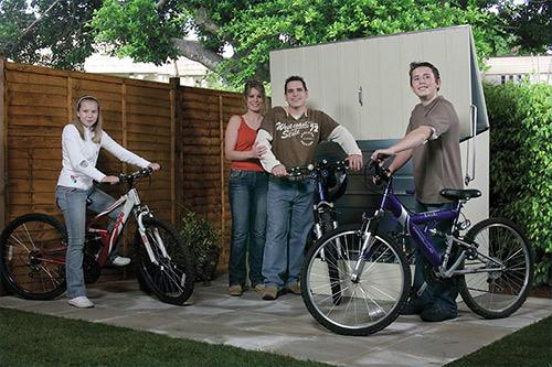 box porta bici da esterno in acciaio