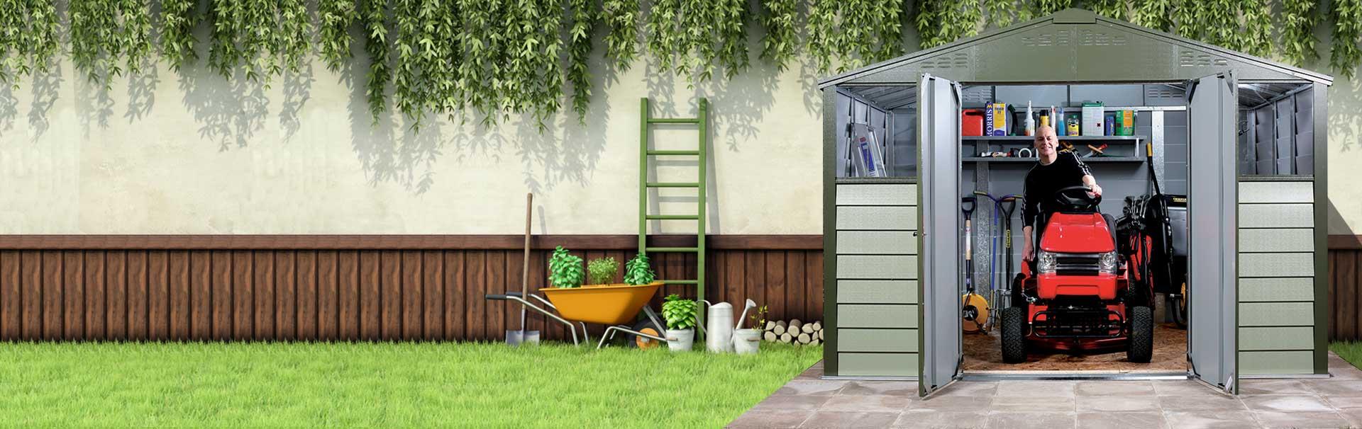 Box per biciclette e moto casette e rimessa da giardino spazio verde - Box bici da giardino ...