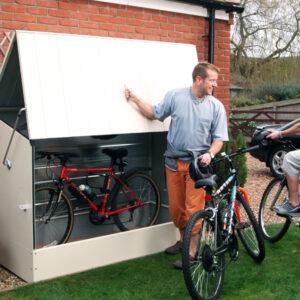 box per biciclette bianco