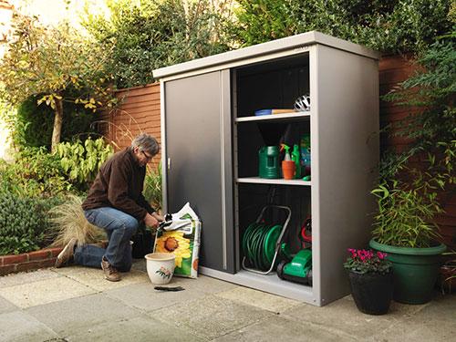 armadio da esterno in alluminio, robusto e resistente alle intemperie