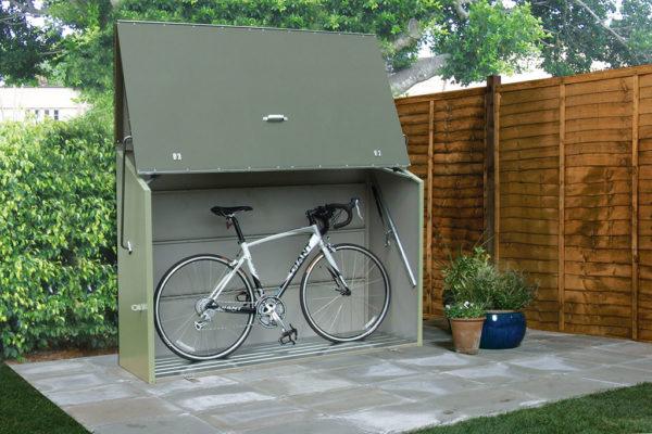 rimessa da giardino per bicicletta