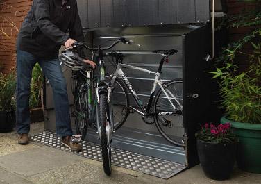 Box per bici con rampa